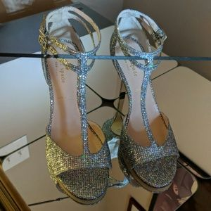Kate Spade, Ines, size 7.5,  silver glitter
